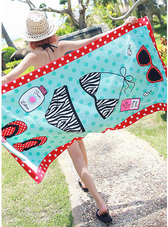 Polka Dots/Color Block/Bohemia/Geometric Light Weight/fashion/Multi-functional/Sand Free/Quick Dry/Color Block Beach Towel