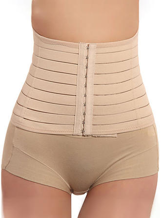 Cotton Blends Striped Corset