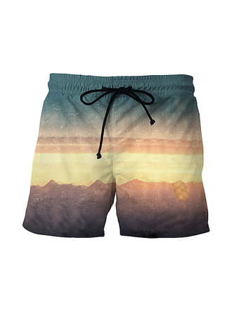 Heren Print Board Shorts Zwempak