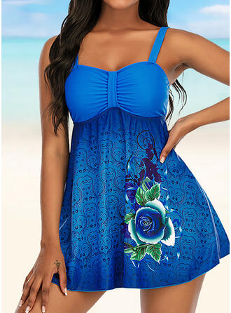 Print Strap Novelty Tankinis Swimsuits