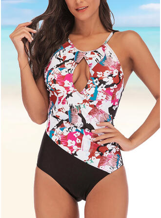 Leaves Print Strap Casual Amazing Exquisite Novelty Luxury One-piece Swimsuits