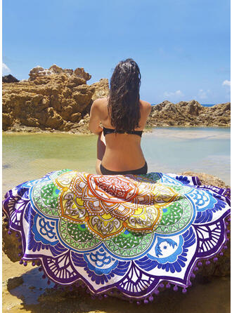 Retro/Vintage/Tassel/Bohemia Light Weight/Multi-functional/Colorful/Leaves Shaped/Sand Free/Quick Dry Beach Towel