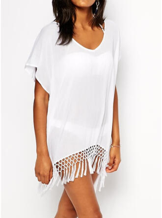 Tassels V-Neck Casual Cover-ups Swimsuits