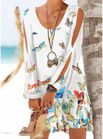 Solid Color Print Animal Print High Neck Cute Plus Size Casual Cover-ups Swimsuits