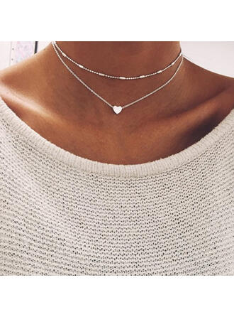 Beautiful Fashionable Sexy Heart Valentine's Day Alloy Women's Girl's Necklaces Beach Jewelry