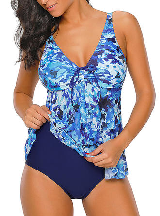Floral Fashionable Tankinis Swimsuits