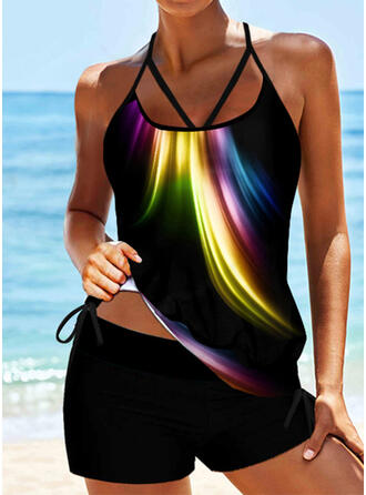 Splice color Strap Sexy Vintage Tankinis Swimsuits