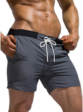 Men's Solid Color Swim Trunks