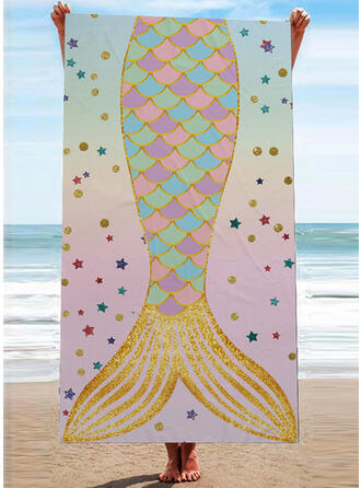 Retro/Vintage/Bohemia/Gradient color Light Weight/attractive/Multi-functional/Seamless/Sand Free/Quick Dry/Animal Designed Beach Towel
